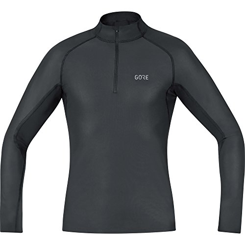 GORE WEAR Herren M Windstopper Base Layer Thermo Stehkragenshirt Shirt, Black, M