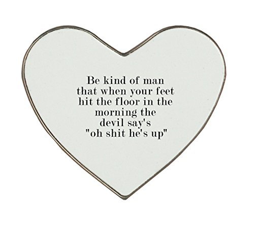 Heartshaped fridge magnet with Quote for respect in life.