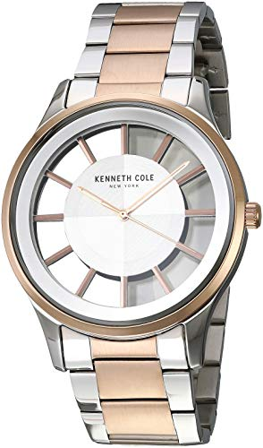 Kenneth Cole Men's Classic 44mm Two Tone Steel Case Quartz Watch KC50500005