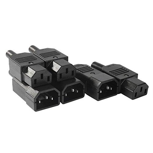 3par AC250V 10A adaptadores de enchufe de 3clavijas terminales montaje en panel IEC320C14Socket y conectores C13IEC estándar Cables de alimentación