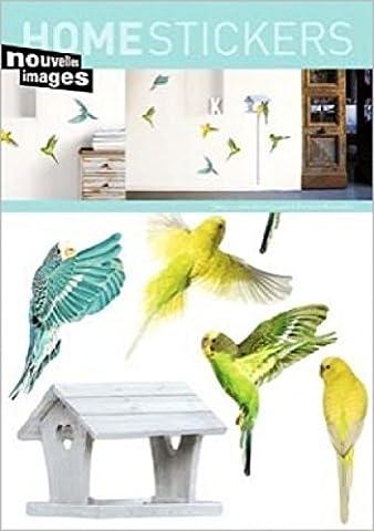 1art1 43151 Tiere - Wellensittich Wand-Tattoo Aufkleber Poster-Sticker 70 x 50 cm