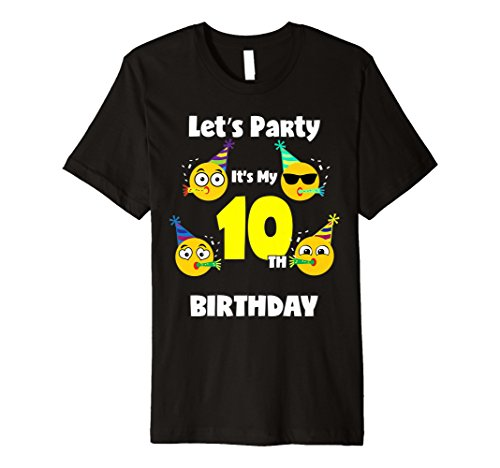 Emoji Birthday Shirt For 10 Ten Year Old Girl Boy Toddler