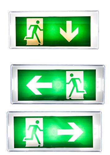 IP 20 LED Dauerlicht Notleuchte Notbeleuchtung Notausgang Fluchtwegleuchte Notlicht Fluchtweg EXIT (Dauerlicht IP20) -