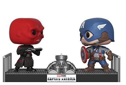 Funko 32880 Pop Bobble 2-pack: Marvel: Movie Moments: Captain America & Red Skull, Multi