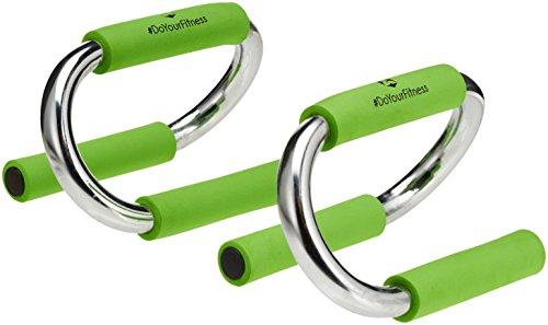 Barra PUSH-UP / Agarres para flexiones »TheBodyBar« / Ejercita la musculatura de los hombros, la espalda y los brazos / verde