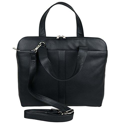Mala Leather , Sac à main pour femme Noir violet noir