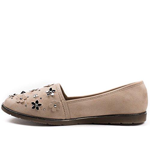 Ideal Shoes, Mocassini donna Beige