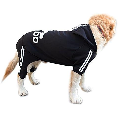 Scheppend Adidog Grande Dog Felpe con cappuccio Felpa Animale domestico Cappotto invernale Vestiti sportivi