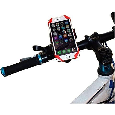 Bike Mount Supporto per telefono, smartphone universale supporto manubrio bicicletta e moto per iPhone 6/6S Plus, Galaxy S4/S5/S6Edge, Nexus 5/6, HTC e dispositivi GPS