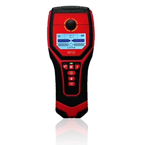 Wall Scanner Digital, Center Finding Stud Sensor & Sound Warning for Studs/Wood/Metal/Live AC Wires Detection -