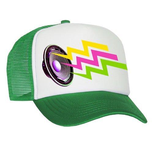 Bastart Caps Raphia Art - Neon Sound - Casquette en maille en vert, rouge, bleu ou noir
