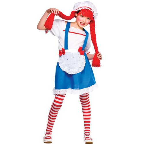 Little Rag Doll Party Outfit Girls Fancy Dress Costume