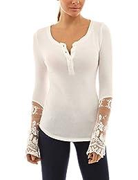 StyleDome - Camiseta de manga larga - para mujer