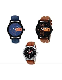 Cavalli Analogue Multi-Colour Dial Men'S And Boy'S Watch-Combo Of 3 Exclusive Watches
