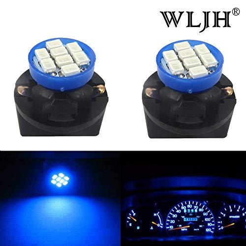 T10 AMPOULE LED, Wljh 194 168 W5 W Twist Lock Instrument Panel lumières Porte-ampoule Sockets, Bleu (lot de 6)