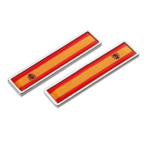 DSYCAR 1 Par Bandera Nacional 3D Etiqueta Engomada del Emblema del Coche de Metal Calcomanías para Universal Car Styling