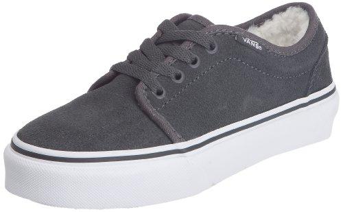 Vans 106 Vulcanized VKV365D - Zapatillas de ante para niños, color gris, talla 28