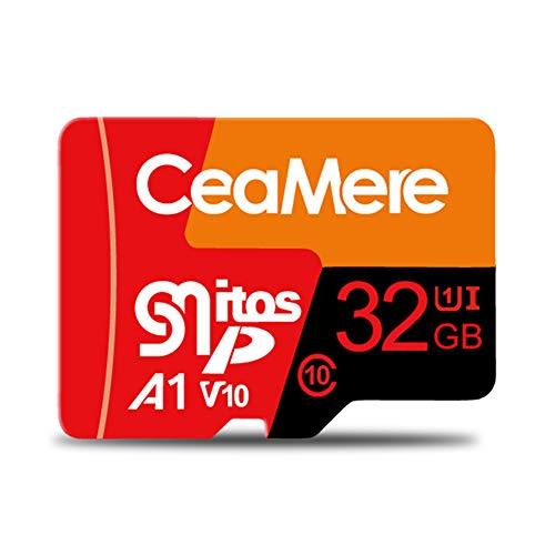 IOIOA Speicherkarte, Ultra Microsdxc UHS-I-Speicherkarte - 80 MB/s, C10, U1, Full HD, A1, Micro SD-Karte (1 GB, 2 GB, 4 GB, 8 GB, 16 GB, 32 GB, 64 GB, 128 GB, 256 GB, 512 GB),32GB (2 64 Gb Micro Sd-karte)