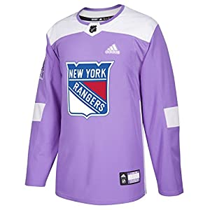 adidas New York Rangers NHL Hockey Fights Cancer Men's Authentic Practice Jersey