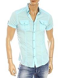chemise manches courtes kaporal 5 farc bleu