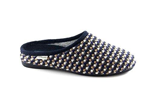 Grünland ADRI CI1222 pantoufles bleu lady slipper mesh Blu