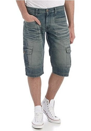 7/8 Jeans Shorts von 4Wards in Blue Used Blue Used