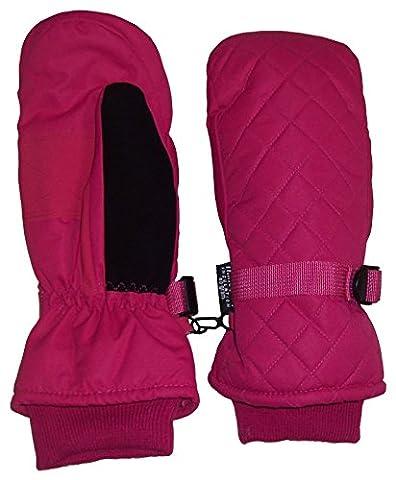 N'Ice Caps Kids Thinsulate and Waterproof Quilted Ski Mittens (3-4 Years, Fuchsia)
