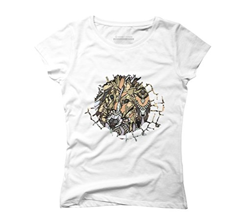 ABSTRACT COLLIE Women's Graphic T-Shirt - Design By Humans White