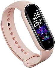 ForceSthrength Braccialetto Sportivo M5 con Schermo A Colori Smart Watch Cardiofrequenzimetro da Polso Rosa