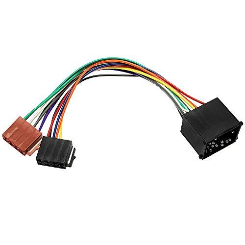 Adapter-Universe® 1080 - Adaptador de Radio para Coche (Cable DIN ISO para Coches BMW Serie 3, 5, Z3, E34, E36, E46 y E39)