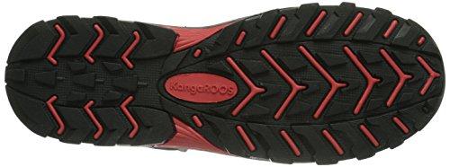 KangaROOS Kanga 3016 Unisex-Kinder Trekking- & Wanderstiefel Schwarz (black/camo 509)
