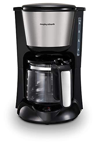 Morphy Richards 162751EE Filter Kaffeemaschine mit Glaskanne, Edelstahl/gebürstet