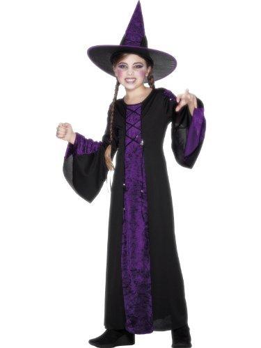 Smiffys Kinder Verzaubert Kostüm, Kleid und Hut, Größe: S, 25073S