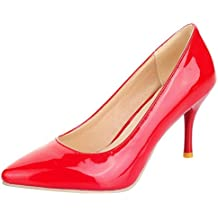 SHOWHOW Damen Spitz Zehe High Heels Slingback Sandalen mit Abstaz Rot 34 EU BH8KbeFr