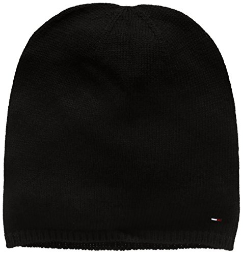 Hilfiger Denim Herren Strickmütze Thdm Sweaterknit Hat 19, Schwarz (Tommy Black 078), One size