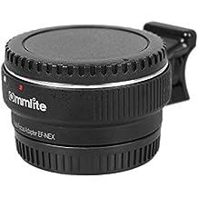 Commlite CM-EF-NEX - Adaptador de montaje para lentes Canon EF/ EF-S a cámara Sony con montaje E,