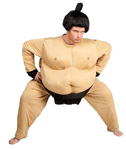 nger-Kostüm für Herren Damen Einheitsgröße Anzug Spiel Suit Costume Wrestler Jumpsuit (Sumo-halloween-kostüm)