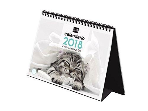 Finocam Imágenes - Calendario de sobremesa 2018, diseño gatitos, español, 210 x 150 mm, 150 g/m²