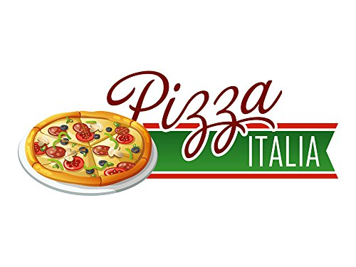 GRAZDesign Wandsticker Aufkleber Wandspruch für Küche Schriftzug Pizza Italia Gericht Deko (151x60cm)
