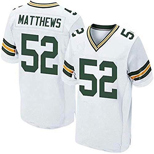 Valentina Landon Fußball-Team-Jersey-Fußball-Sport-Shirt Stützen Sie Ihre Team-Gewohnheit irgendeine Namenszahl für Mann-Frauen-Jugend(Green Bay Packers-White,Men-XXL -