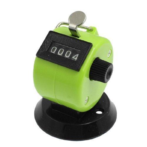 Base ronde réinitialisable à la main Clicker Golf 4chiffres Compteur Vert Noir