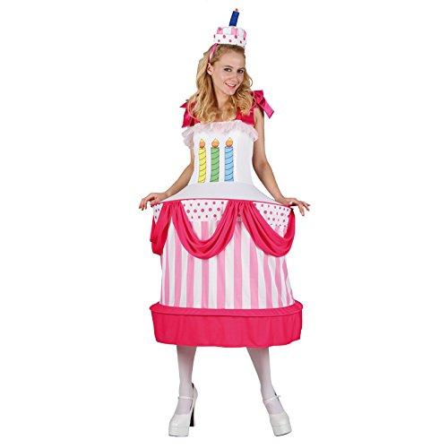 Kuchen Kostüm - Unbekannt AptafêtesDamen-Kostüm Geburtstagstorte, Gr.M/L, cs925762