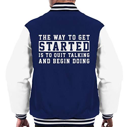 ed Walt Disney Quote Men's Varsity Jacket ()