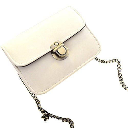 Espeedy Neue Beiläufige Kleine PU-Leder Klappe Handtaschen Frauen Clutches Crossbody Umhängetaschen Umhängetasche Weiß