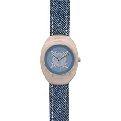 Oxbow 1360 15 Children's Watch Quartz Analogue Blue Dial Blue Leather Strap