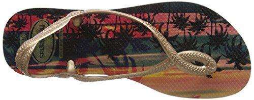 Havaianas Luna Print, Sandales Multicolore (Sand Gris/Multicolore Gold 4879)
