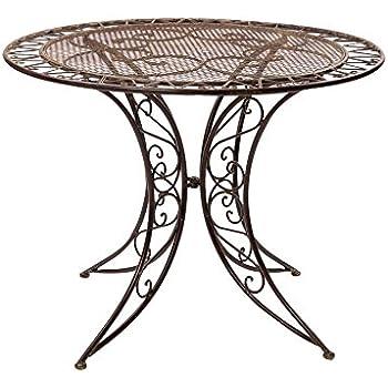 Amazon De Aubaho Gartentisch Eisen Schmiedeeisen Tisch Bistrotisch