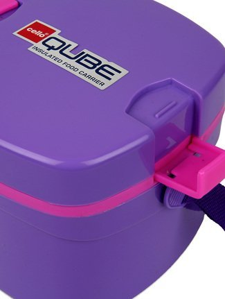 Cello Qube Plastic Container, 1.25 Litres, Violet