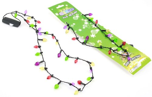 Merry Christmas Fairy Lights Necklace with 6 Flashing Lights