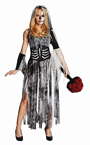 Damen Kostüm Zombiebraut Brautkleid zum Zombie Halloween Gr.48